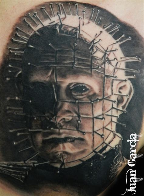 hellraiser tattoo pinhead hellraiser black and grey