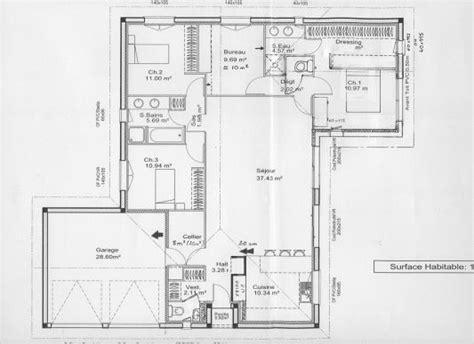 Plan Maison Plain Pied 100m2 4121 by Plan Architecture Maison 100m2 Evtod