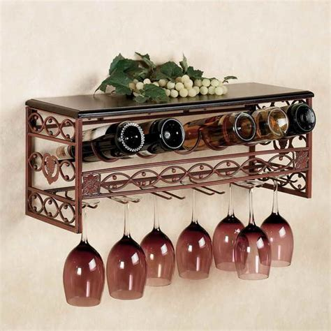bloombety wine glass wall rack with green grapes hanging