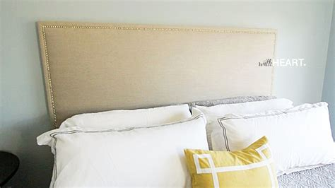 Diy Cloth Headboard Diy Upholstered Headboard That Doesn T Look Diy And Written Withheart