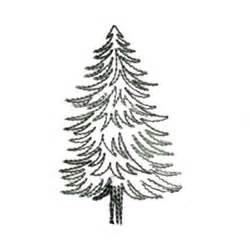 Pine Tree Outline by Needle Embroidery Embroidery Design Pine Tree Outline 3 11 Inches H X 1 93 Inches W