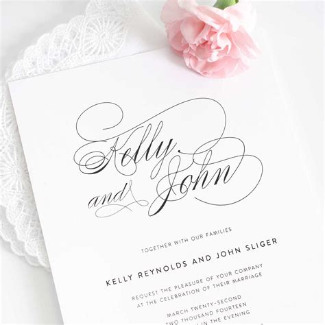 south wedding invitation designs wedding invitations white design with large size names