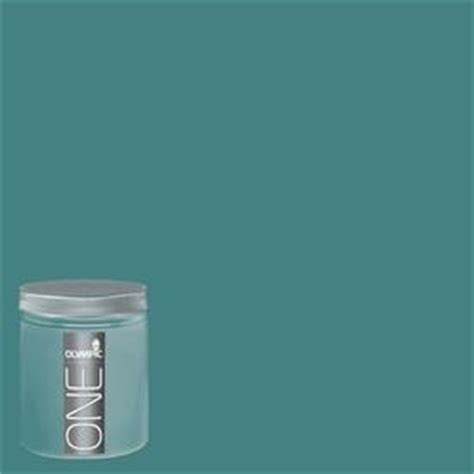 shop olympic 8 oz teal zeal interior satin paint sle at lowes