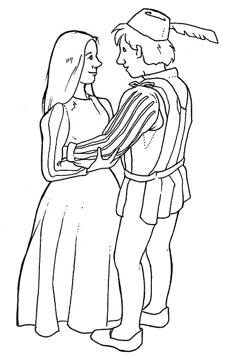 romeo and juliet coloring pages az coloring pages