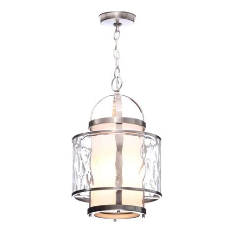 foyer pendant progress lighting bay court collection 1 light brushed
