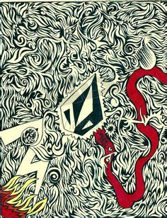 Kaos Volcom Tatto volcom logo vector logo decals
