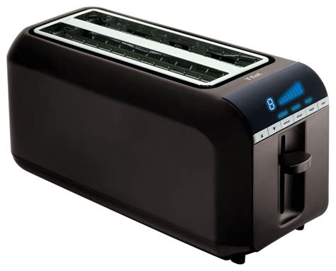 T Fal Toaster T Fal Black 4 Slice Toaster Contemporary Toasters By