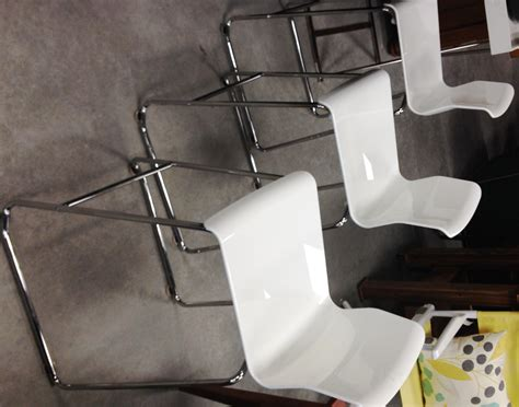 Set Of 3 Counter Height Stools by Set Of 3 White Chrome Counter Height Bar Stools Sold