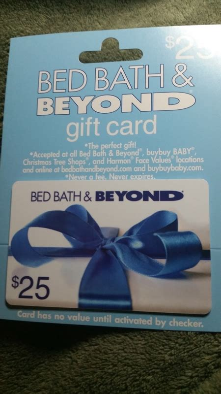 bed bath and beyond e gift card free 25 00 bed bath beyond gift card gift cards