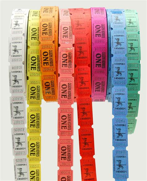 roll strip and anti counterfeit tickets triangle