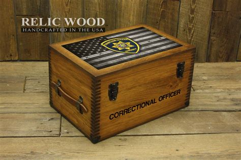 Officer Gifts by Custom Correctional Officer Badge Keepsake Box