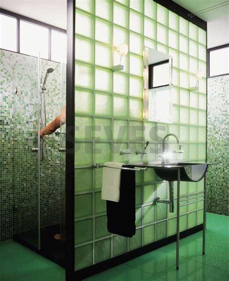 docce in vetrocemento pareti vetromattone foto parete doccia vetrocemento