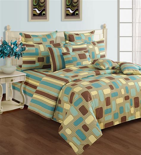 Bedding Set Geometric swayam brown geometric pattern bedding set by swayam