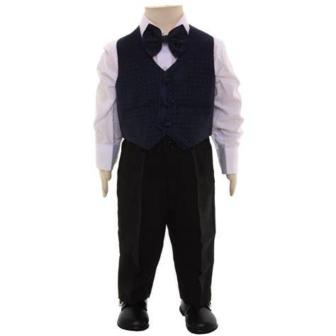 Set Boy Navy boys 4 navy waistcoat set 6m to 8yrs cachet