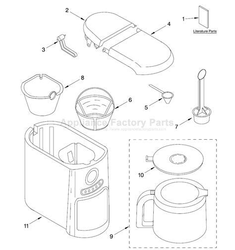kitchen aid appliance parts parts for kcm511er0 kitchenaid small appliances