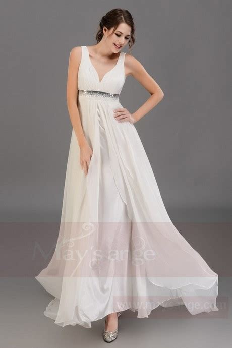 Robe Fluide Mousseline Blanche - robe longue fluide blanche