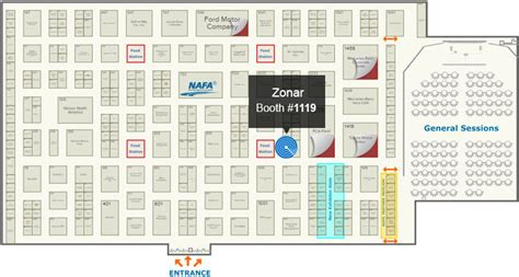 Tampa Convention Center Floor Plan by Nafa 2017 Institute And Expo Zonar Systems