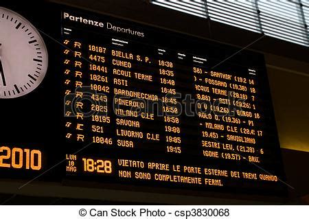 rail station timetables timetables display  italian