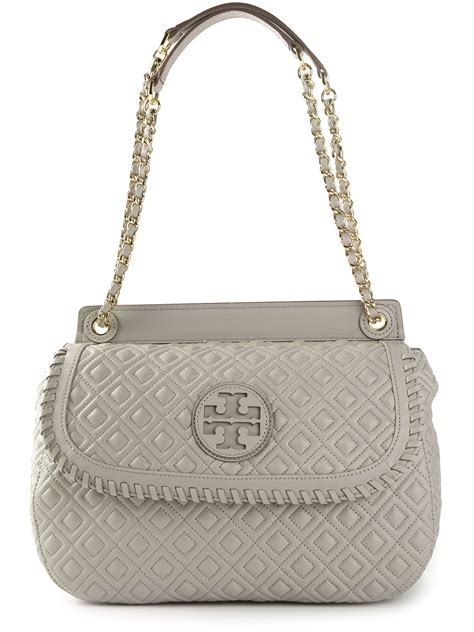 Burch Quilted Bag by Burch Marion Quilted Shoulder Bag In Gray Grey Lyst