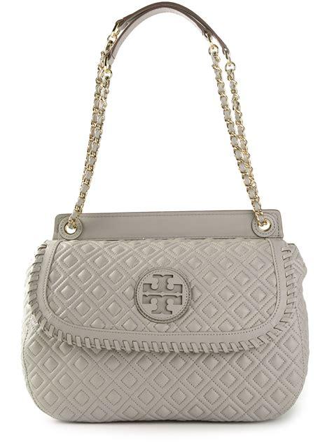 Tas Wanita Burch Quilted Shoulder Bag burch marion quilted shoulder bag in gray lyst