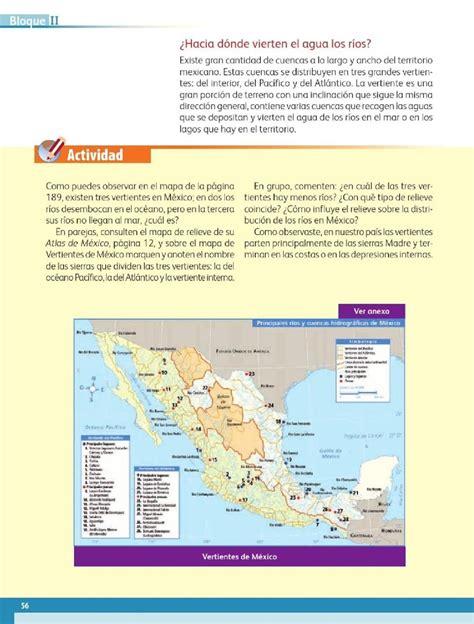 geografia libro cuarto grado bloque 2 191 a d 243 nde van los r 237 os bloque ii lecci 243 n 2 apoyo