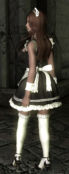 cbbe hdt outfits skyrim mods highlights honoka maid outfit cbbe bodyslide hdt