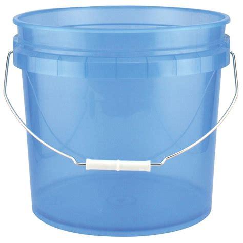 leaktite 3 5 gal blue plastic translucent pail 10 pack