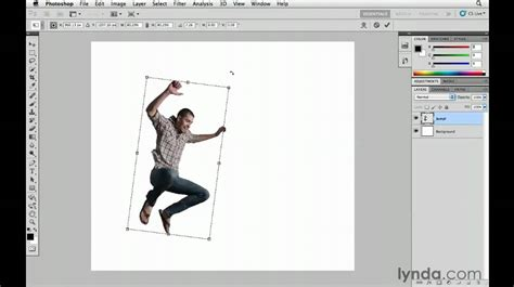 scale pattern in photoshop cs5 how to use the photoshop free transform mode lynda com