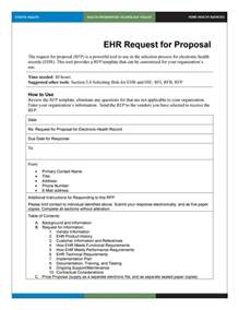 rfp template 40 best request for templates exles rpf