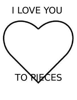 I You To Pieces Printable