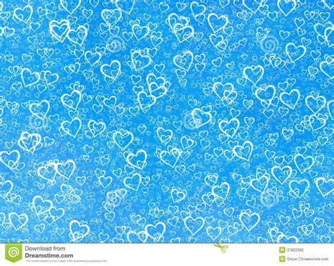 White Hearts Background On A Blue Winter Backgrounds. Love ... Blue Heart Background Wallpaper