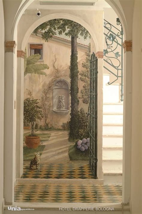 Closet Door Murals Trompe L Oeil Mural Featuring Several Archways Leading To