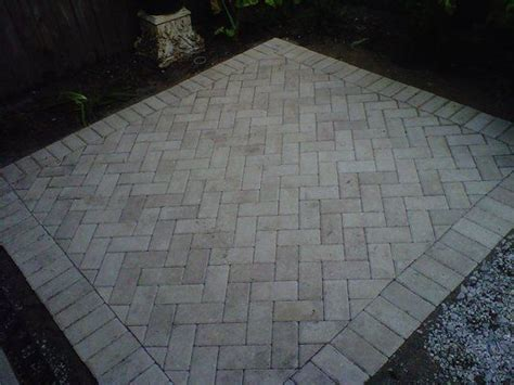paver patio patterns herringbone pattern for patio pavers outdoor decor