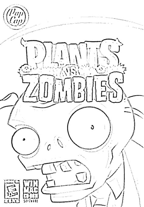 plants vs zombies coloring pictures