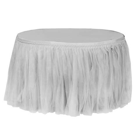 tutu table skirt for rent silver tulle skirt rent all inc
