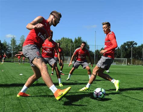 arsenal watford head to head arsenal train ahead of watford clash sport galleries