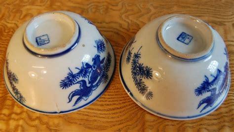 chinesische len 2 antike chinesische keramik reisschalen wei 223 mit blauem