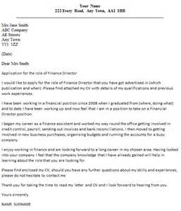 finance director cover letter example icover org uk