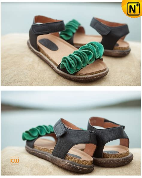 Handcrafted Leather Sandals - womens leather ankle sandals cw305213