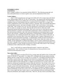 Wisc Iv Report Template Full Psychological Report Sample