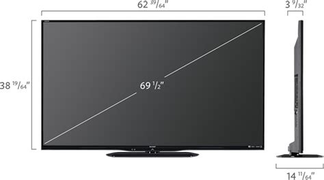 Tv Led Sharp Speaker sharp lc 70le650u aquos 70 class 1080p led smart tv medianow