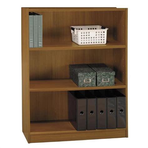 3 shelf wood bookcase bush universal 3 shelf wood bookcase in royal oak wl12445 03
