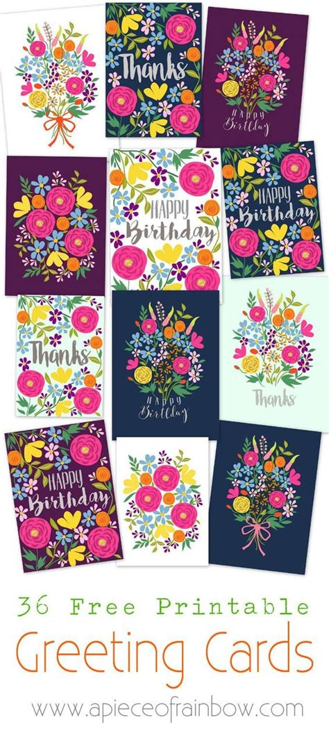 make your own printable greeting cards for free beautiful floral and birthdays on