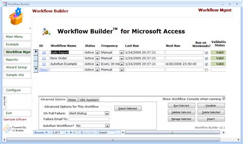 workflow access workflow builder for access