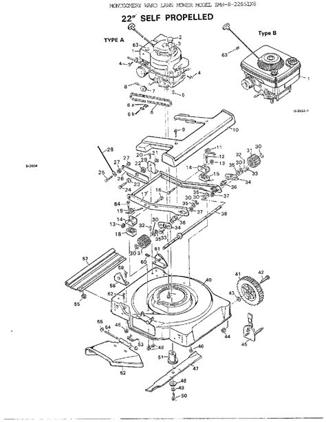 murray lawn mower parts diagram 22 quot self propelled mower diagram parts list for model