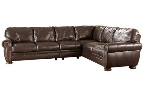 Leather Sectional 205 Leather Sectional Palmer Walnut