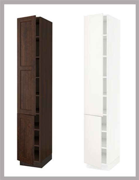 armoire cupboards ikea kitchen hack a custom wine cabinet for a narrow space