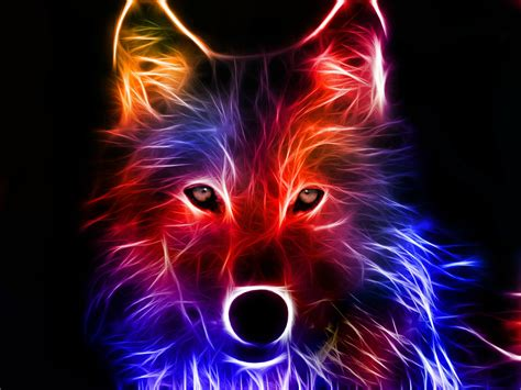 cool wallpaper of wolves cool neon wolves