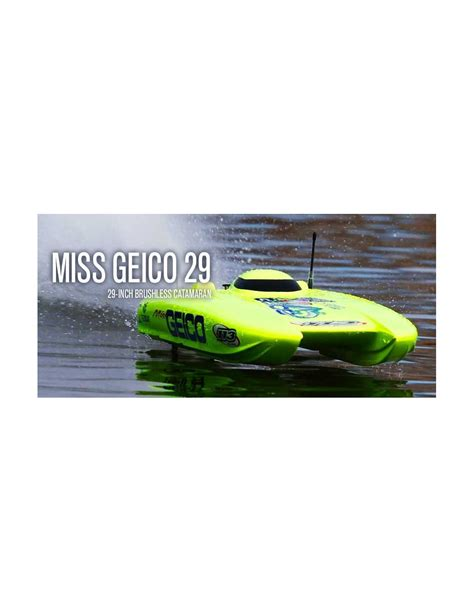 rc boats geico proboat miss geico v3 29 brushless catamaran rtr rc boat