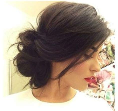 Wedding Hairstyles Buns Images by 25 Best Ideas About Medium Hair Updo On